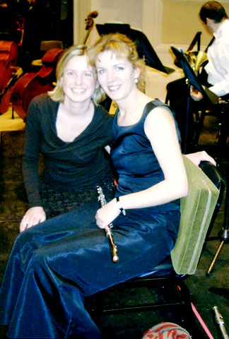 former students Stephanie Winker and Anna Garzuly, members of the Gewandhaus Orchestra, Leipzig, Germany
